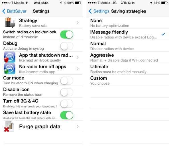 BattSaver for iOS 7
