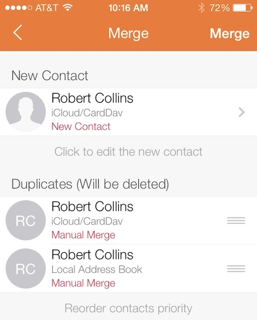 merge duplicate contacts