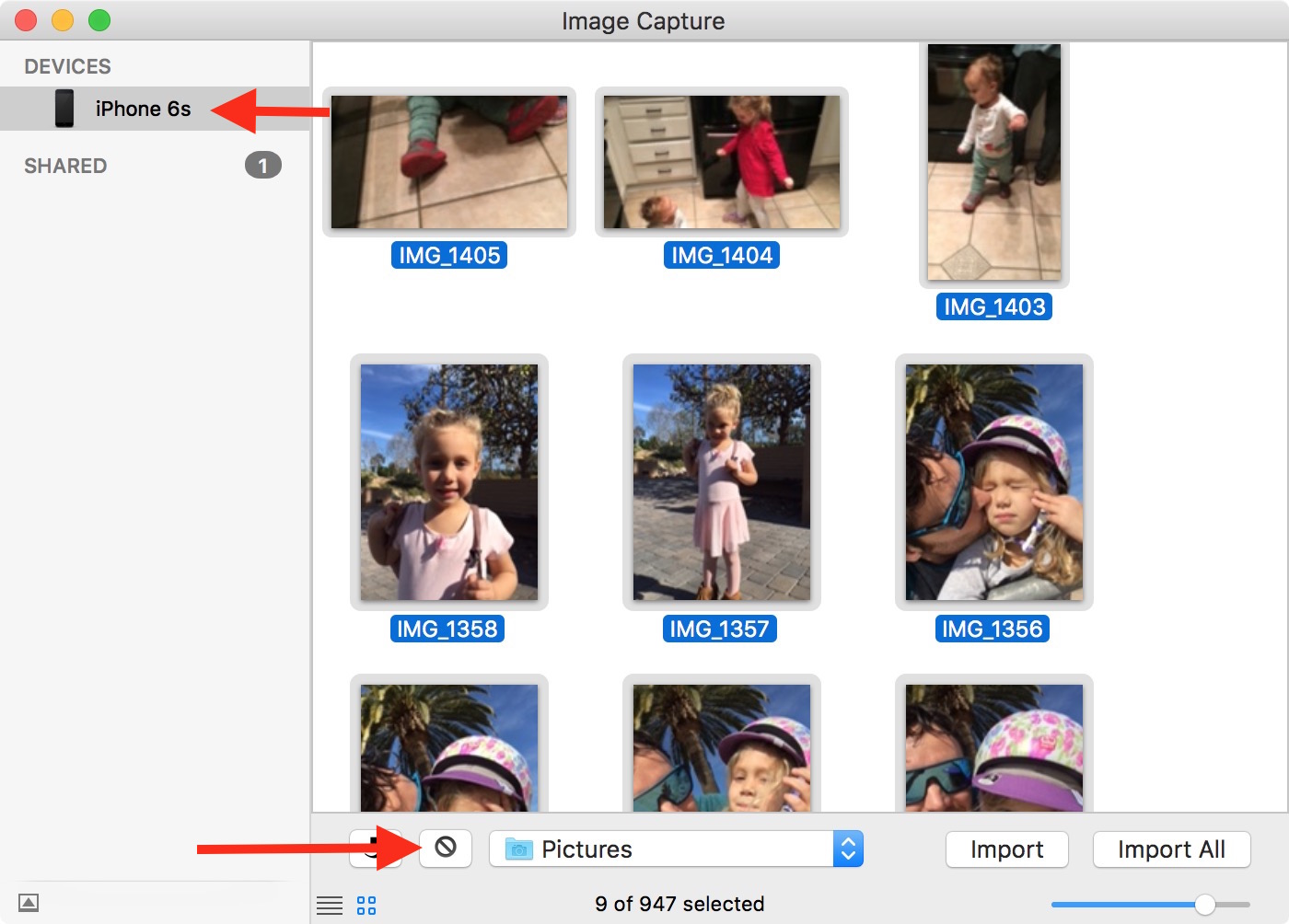 Delete all photos in Image Capture
