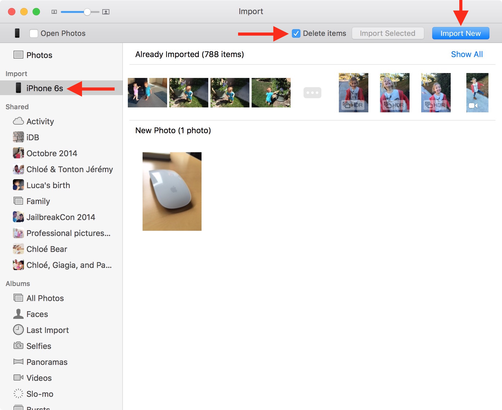 Delete multiple photos from iCloud (not all at once): Way 1