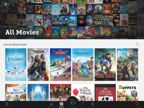 Disney Movies Anywhere 1.0 for iOS (iPad screenshot 001)