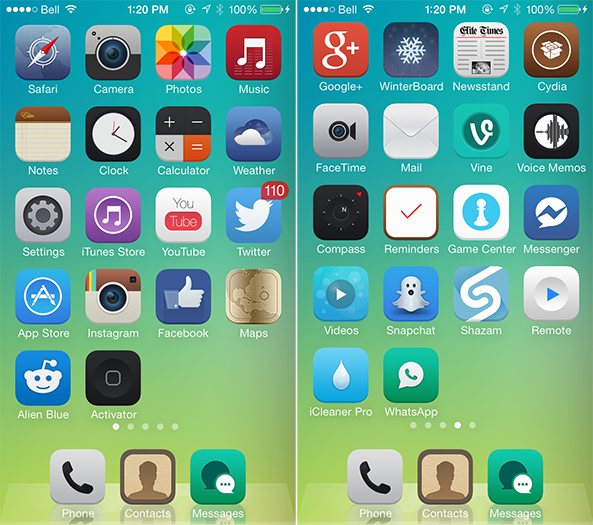 ios 7 theme download cydia