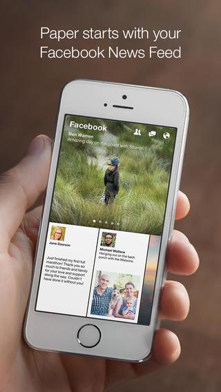 Facebook Paper 1.0 para iOS (captura de pantalla de iPhone 001)