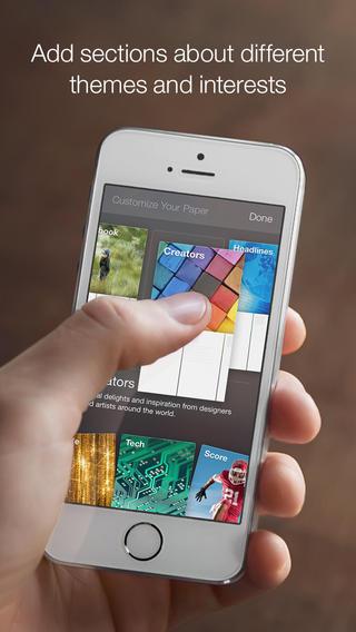 Facebook Paper 1.0 para iOS (captura de pantalla de iPhone 002)