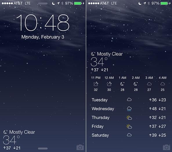 Forecast iOS 7 1