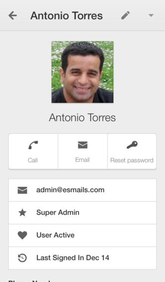Google Admin 1.0 for iOS (iPhone screenshot 003)