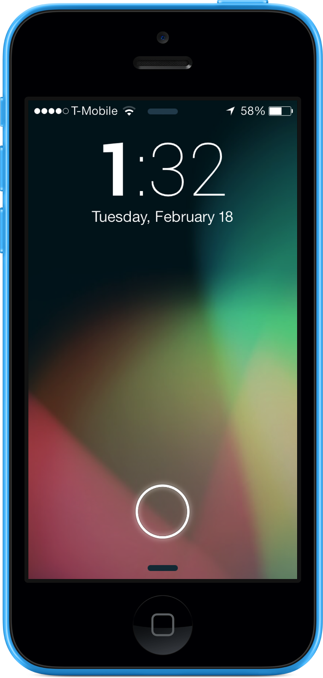 JellyLockClock7 iPhone 5c