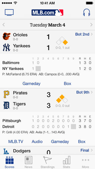 MLB.com At Bat 7.0 for iOS (iPhone screenshot 001)