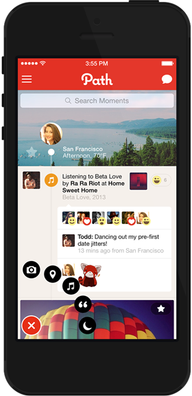 Path 3.4 for iOS (iPhone screenshot 001, small)