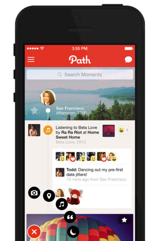 Path 3.4 for iOS (iPhone screenshot 002)