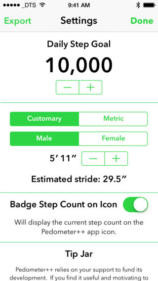 Pedometer 2.0 for iOS (iPhone screenshot 003)