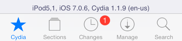 Resized Cydia iOS 7.0.6