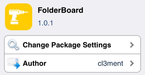 Resized FolderBoard Cydia