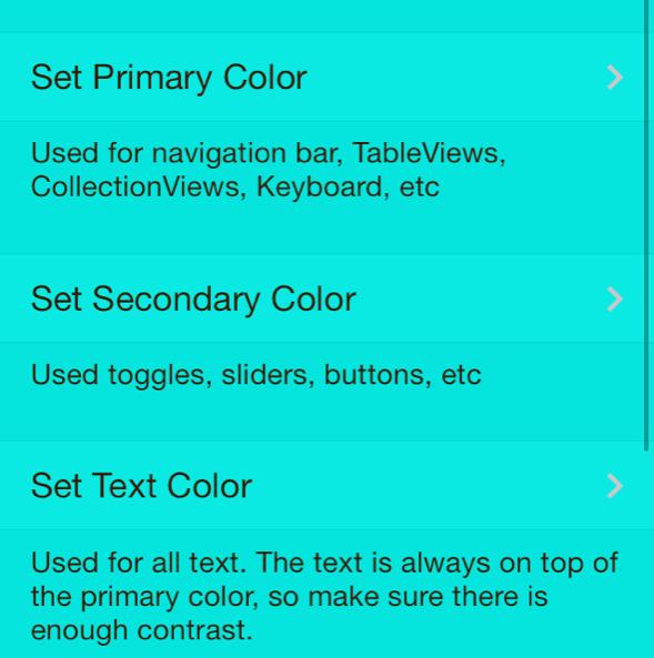 Resized Set Colors UI Colors