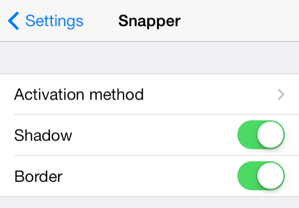 Resized Snapper Settings