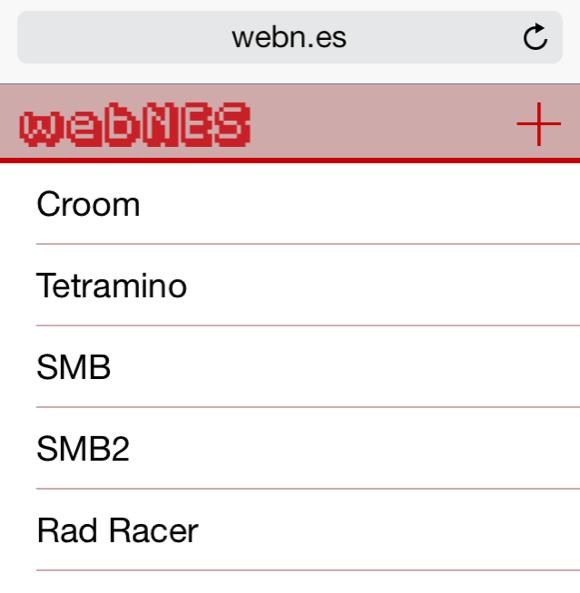 Resized webnes interface