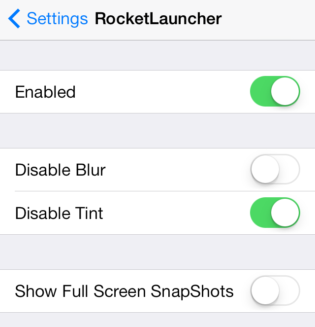 RocketLauncher Settings