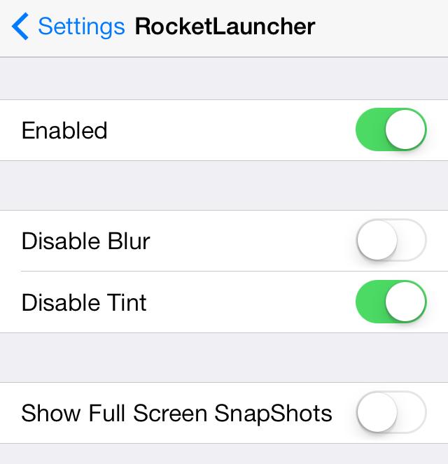 RocketLauncher Settings