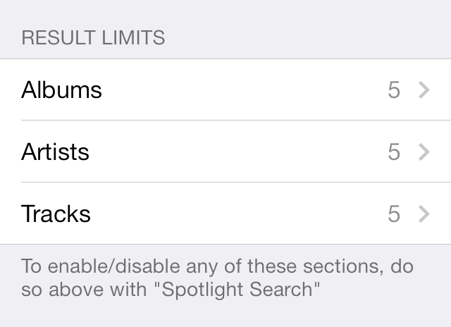 SpotiSearch Settings 2