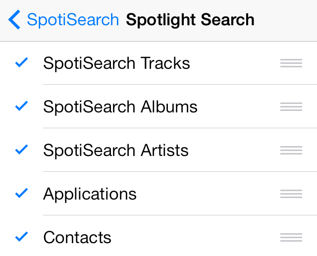 Spotlight Search SpotiSearch