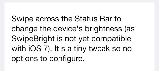 StatusBright Cydia
