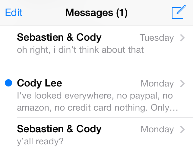 How to mark conversations in the Messages app as unread