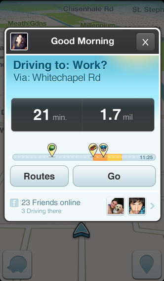 Waze 3.7.7. for iOS (iPhone screenshot 002)