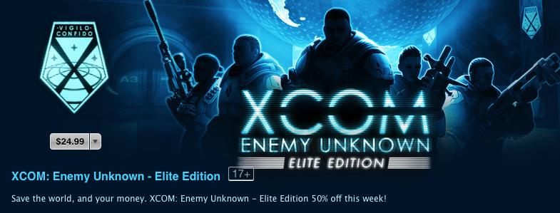 XCOM Enemy Unknown (half price 001)
