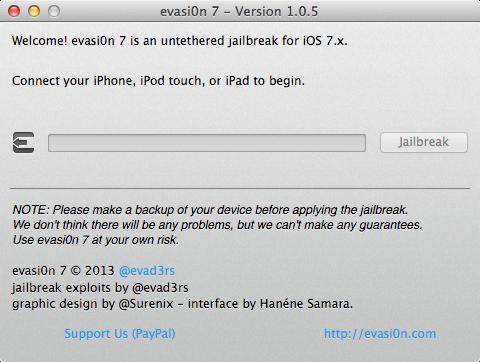 evasi0n7 1.0.5 Mac