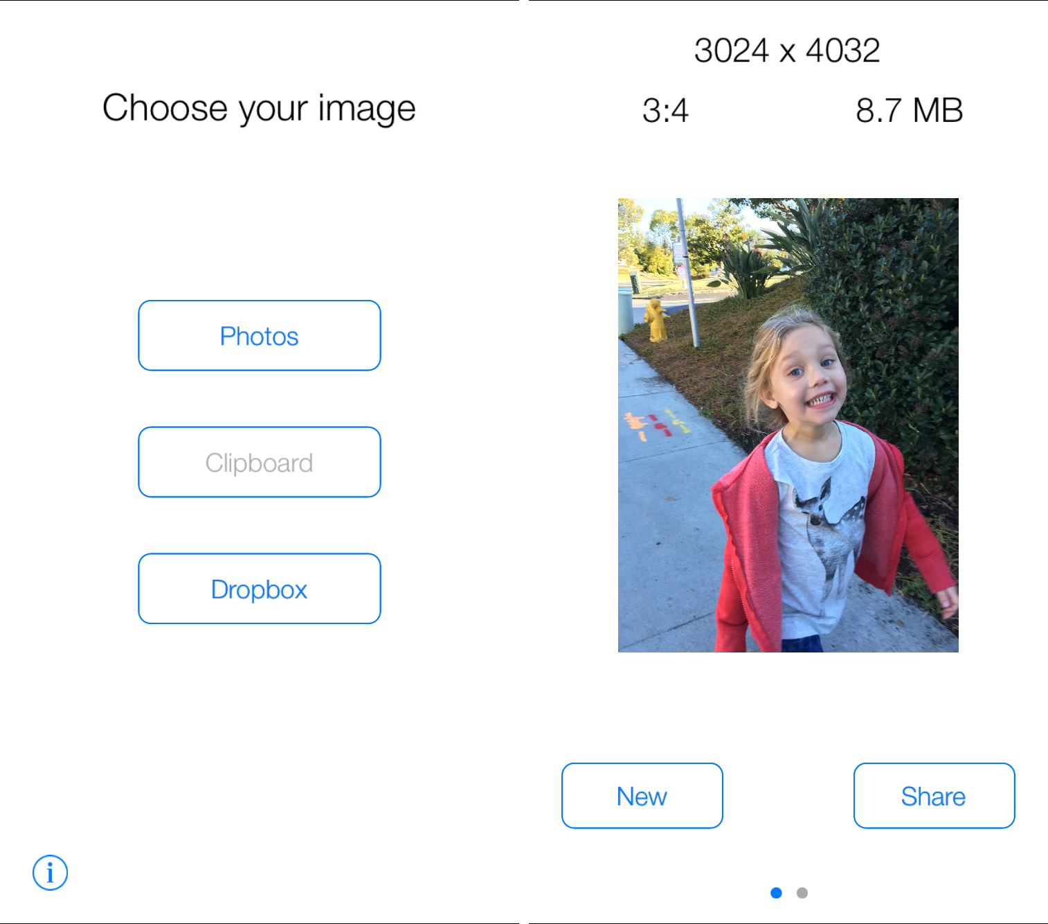 how to resize image on iPhone