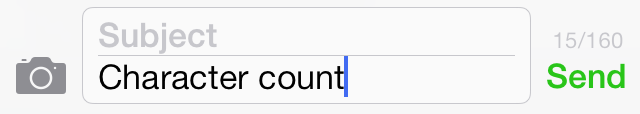 iOS 7 Messages Character Count