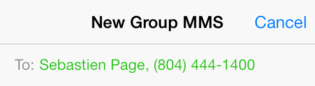 iOS 7 Messages Group MMS