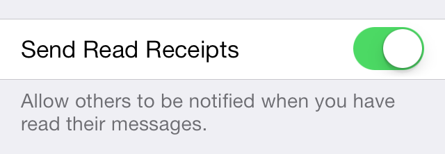 iOS 7 Messages Send Read Receipts