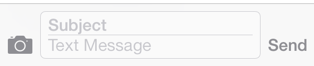 iOS 7 Messages Subject field