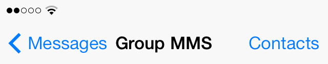 iOS 7 Messages group MMS heading