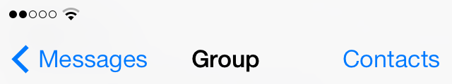iOS 7 Messages group heading