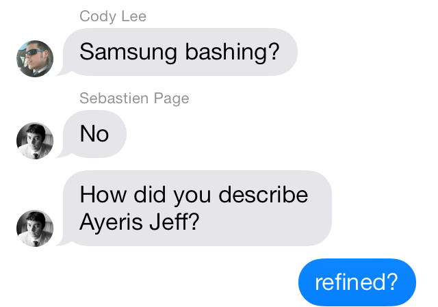 iOS 7 Messages group name participants