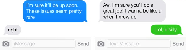 IOS 7 Messages IMessages Vs SMS