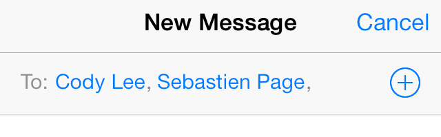 iOS 7 Messages new group iMessage