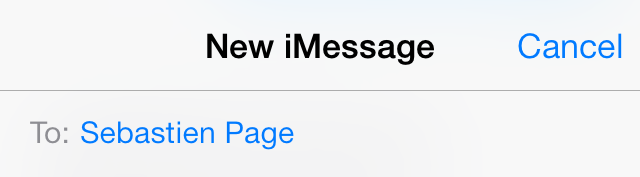 iOS 7 Messages new iMessage