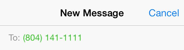 iOS 7 New SMS