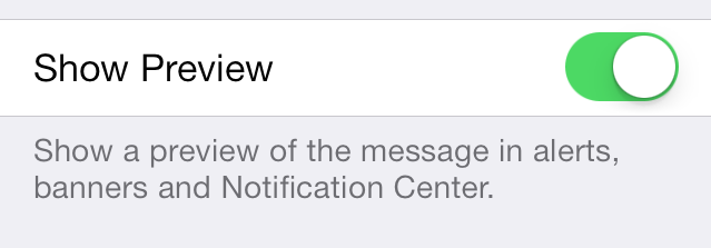iOS 7 Notification Center Show Preview
