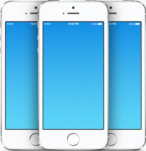 iPhone 5s template