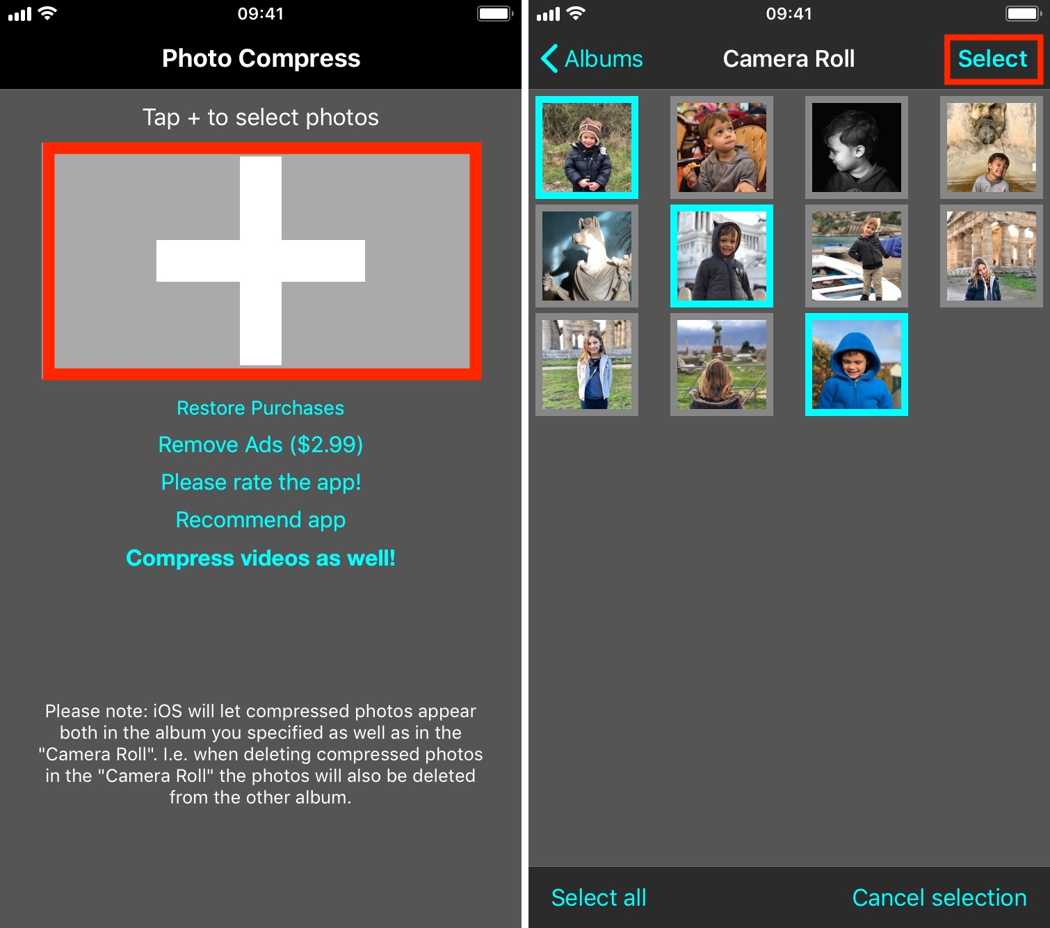 How to reduce pictures file size on iPhone