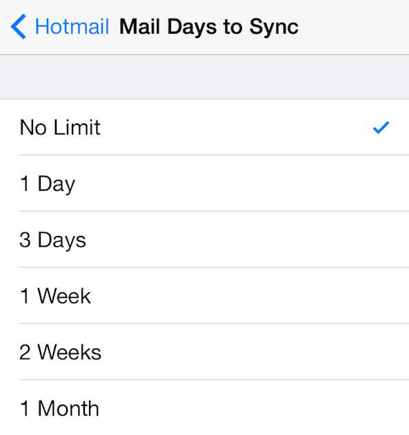 configurar hotmail para iphone