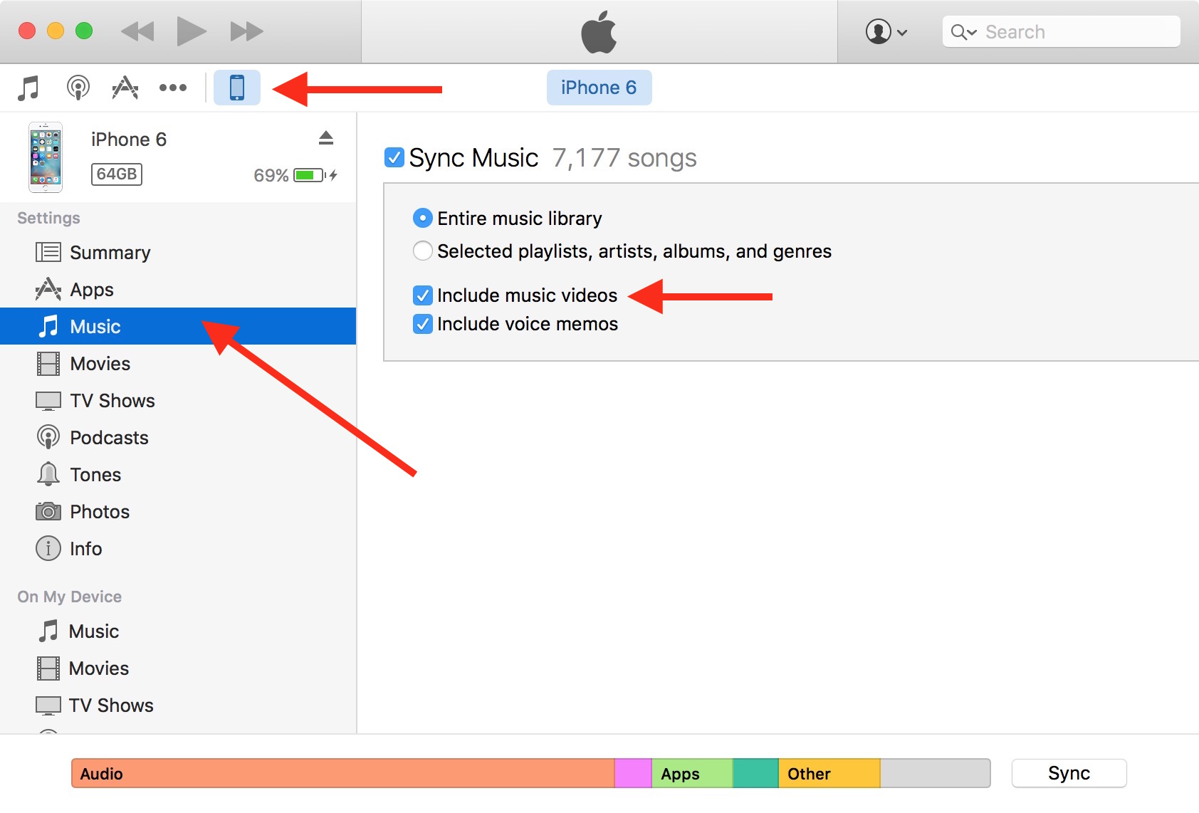 How to add music from itunes on pc to iphone