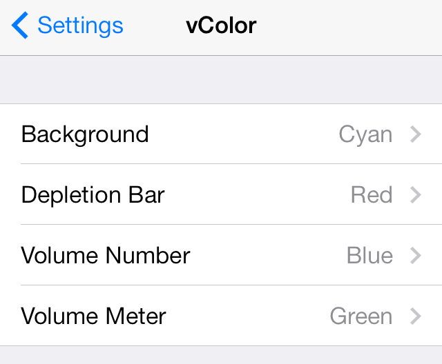 vColor Settings