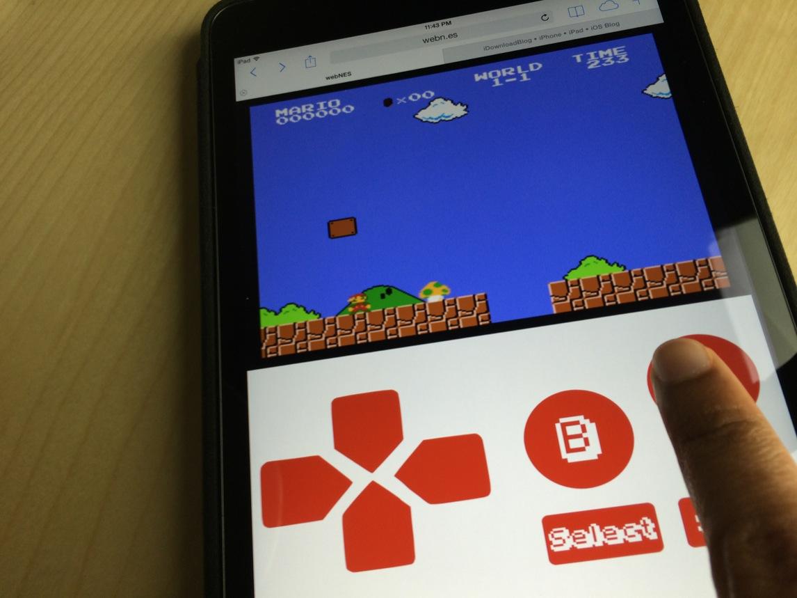 webNES iPad SMB