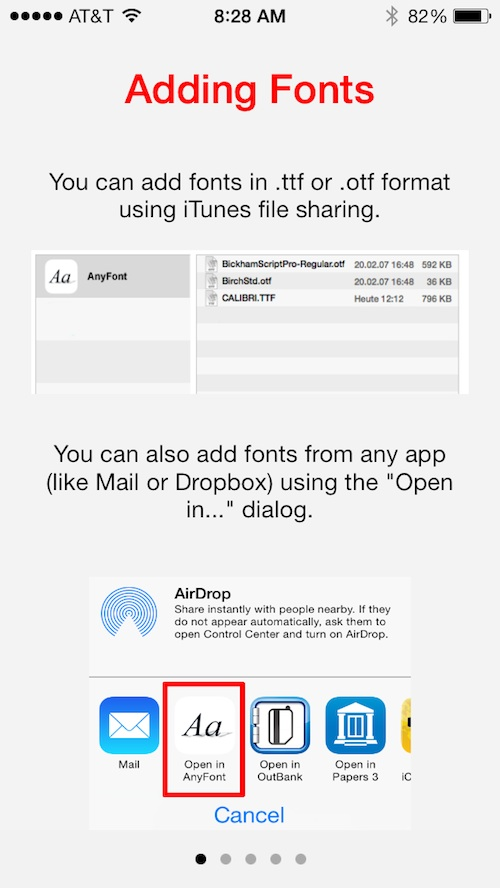 anyfont lets you install additional fonts on your iphone