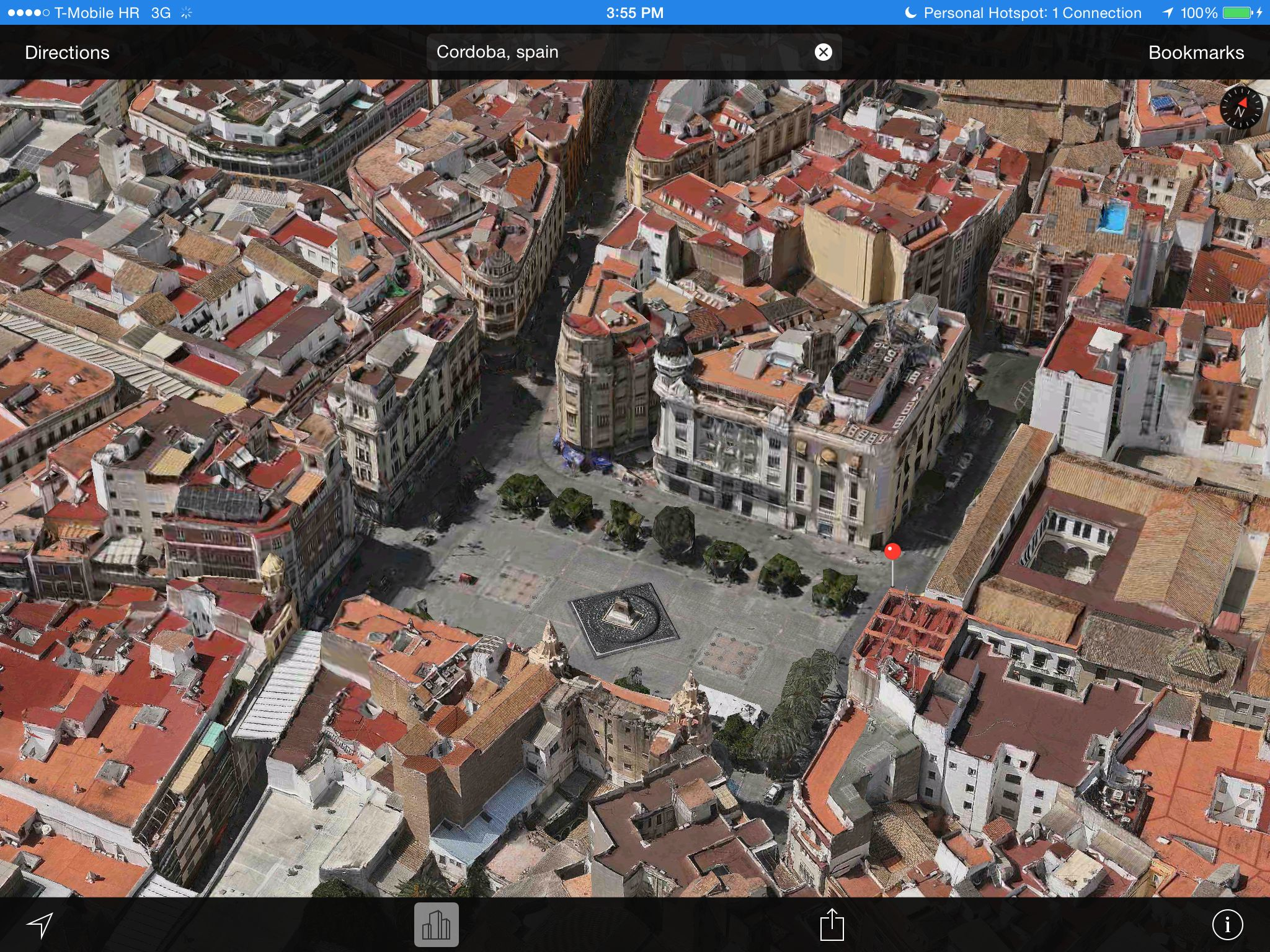 Apple Maps 3D Flyover (Cordoba, Spain)